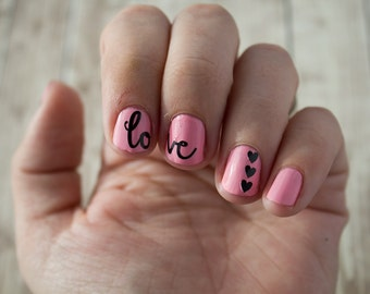 Love and Heart Nail Stickers / Decals