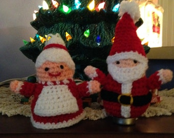 Crochet Mrs Santa Claus Ornament