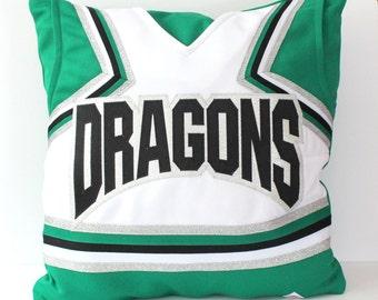 Custom Cheerleading Uniform Pillow Cover -  Memory Pillow