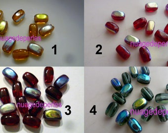 set of 15 rectangular swarovski crystal beads in choice of color