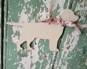 Hanging Labrador, Handpainted Labrador Decoration, Labrador Ornament, Gift for Labrador Lover, Gift for Dog lover, Memento, Keepsake