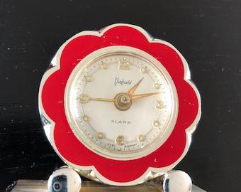 Vintage SHEFFIELD travel alarm clock