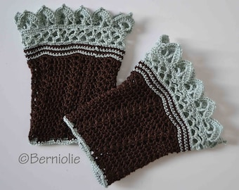 Lace crochet wristlets, cotton, P474