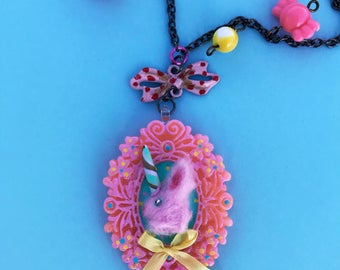 Kawaii Unicorn Bunny Necklace