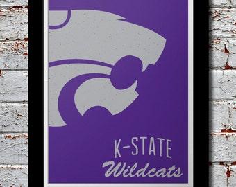 KSU Wildcats Graphic Print - Kansas State University Wildcat Poster