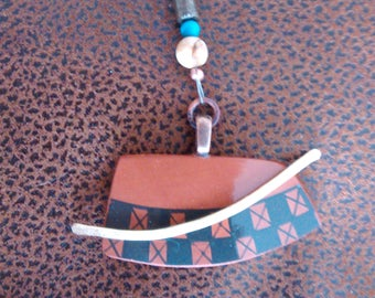 Mata Ortiz Potter shard necklace