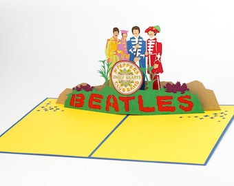 The Beatles Sgt. Pepper's Pop Up Card, The Beatles Sgt. Pepper's Lonely Hearts Club Band Pop Up Card, The Beatles Sgt. Pepper's 3D Card