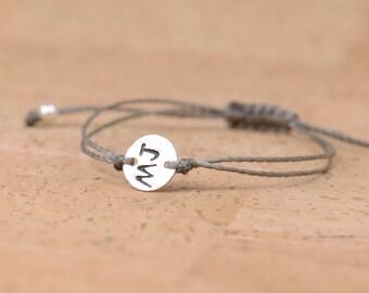 Sterling silver initials  bracelet