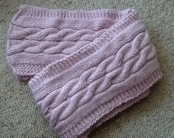 Alpaca Wool Cable Scarf