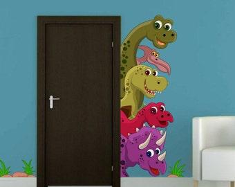 Color wall sticker - Dinosaurs (dinosaurier,dinosauri)(3370f)