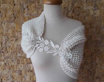 Wedding accessories, wedding shawl, bridal accessories, bridal shawl, knitting shawl, knitted shawl, Womens shawl,  Wedding READY TO SHIP