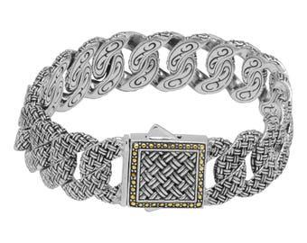 Double Weave Textured Chain Bracelet