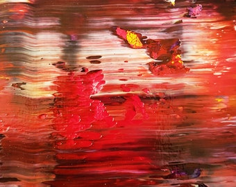 Sunset Abstract Acrylic Painting