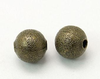 Bronze Beads 8mm Metal Beads Brass Beads Stardust Beads 8mm Beads Brass Metal Beads 10 pieces