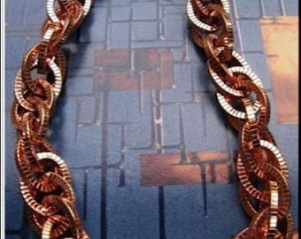 Solid Copper Chain Necklace CN688G - 1/2 an inch wide. Available in 18 to 30 inches.