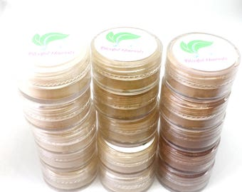 Sample Size Makeup - Mineral Foundation - All Shades - Vegan Foundation - Natural Makeup - Vegan Makeup - Natural Foundation - Makeup Sample