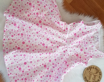White and pink spot dress size 4
