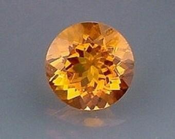 14mm round madeira color quartz gem stone gemstone