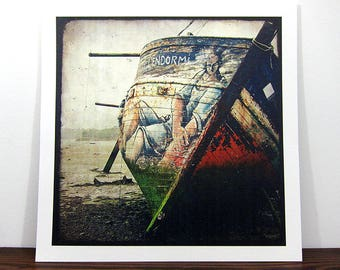 Boat #12 - Brittany - expo 30x30cm print - signed and numbered