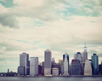 Manhattan Skyline - New York artwork, NYC skyline, New York photography, urban art, New York print