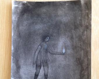 Original mixed media drawing - Untitled 140420