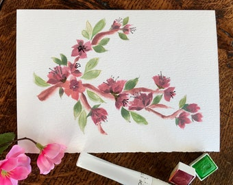 Watercolor Blossom Floral notecard