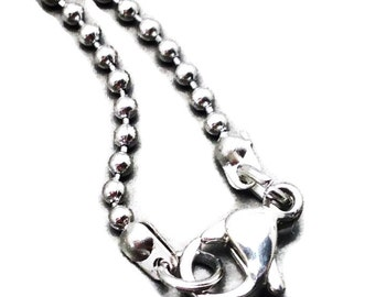 """5 x 316l 18"""" stainless steel 1.5mm ball chain 