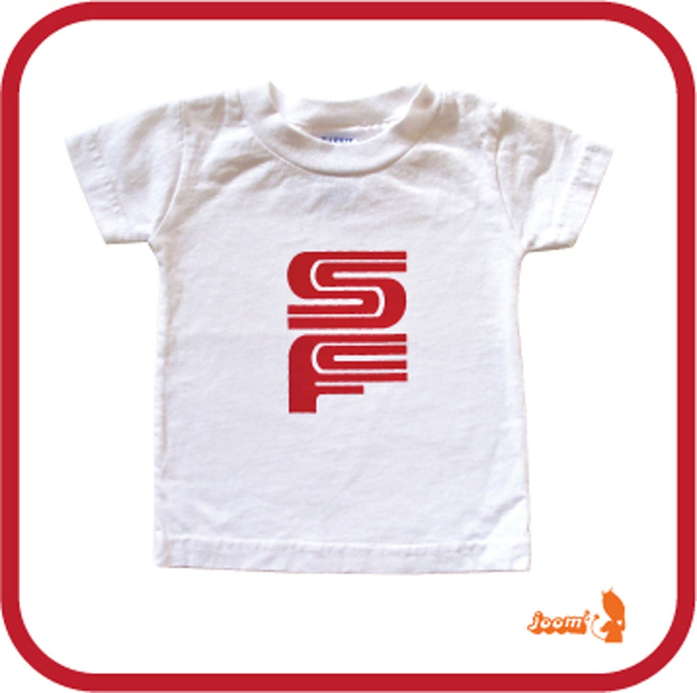 White SF MUNI KIDS T Shirt