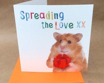Humourous cute hamster based BIRTHDAY or GREETINGS Card