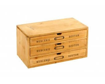 Haberdashery buttons drawers