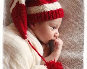 Santa Hat baby, Baby Christmas Hat, Christmas Hat, Newborn Christmas Hat, Elf Hat, Newborn Photo Prop