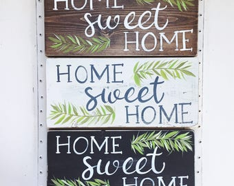 Home Sweet Home Sign // Housewarming Gift // Front Door Decor // Entry Way Decor // Welcome Sign // Home Sweet Home