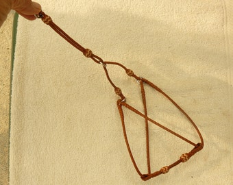 Braided Kangaroo Leather Dog Step In Harness - Made To Order