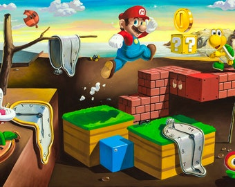 The Persistence Of Mario Print