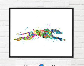 Greyhound Watercolor Print,Greyhound Gift, greyhound Lover, Animal Print, Dog Poster, dog wall art greyhound poster greyhound picture