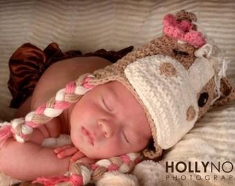 Horse hat, horse, newborn horse hat, crochet horse, crochet horse hat, pony hat, newborn photo prop, animal hat, crochet hat, pink horse hat