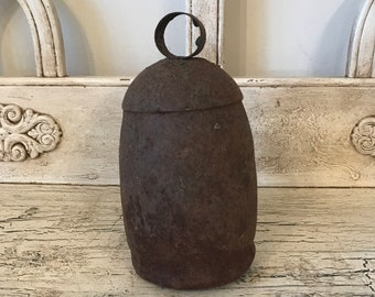 Rustic Metal  Bell  -  , Worn and Weathered