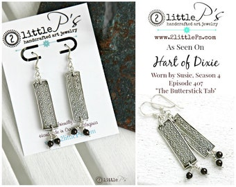 As Seen on Hart of Dixie, Boho, Gift for Her,Textured Art Jewelry, Handcrafted Pure Silver