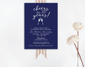 INSTANT DOWNLOAD retirement party invitation / retirement party invite / retirement invite / classy retirement party / elegant retirement