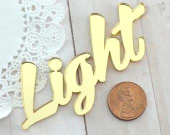 GOLD LIGHT CABOCHON - Mirrored Laser Cut Acrylic Cab
