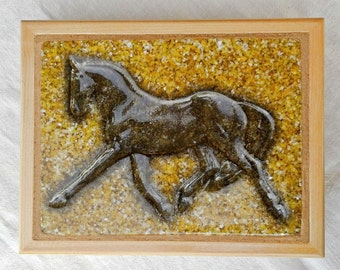 Dressage Horse Jewelry Box Equestrian Decor Horse Lover Gifts Jewelry Organizer Horse Keepsake Box