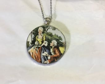 Broken china pendant