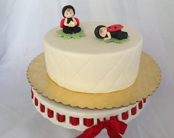Lady bugs cake toppers. Baby shower lady bug. Ladybug birthday cake toppers.