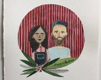Custom Portrait, Couple Portait, Couple Illustration, Wedding Gift, Anniversary Gift, Digital Portrait, Couple Portraits, Family Portrait