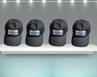 Vegan Hat,New Era,Embroidery,Vegan Gifts,Vegan New Era Hat,Men's Hat,Women's Hat,Vegan Lady Soul,Hats,Black,Black Hat,Vegan Wear