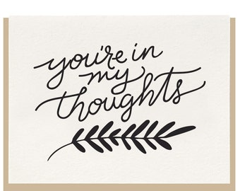 Letterpress - You're In My Thoughts - Sympathy - Greeting