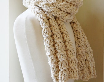 Crochet Scarf Pattern, Womens Cabled Scarf Pattern, Crochet Pattern, Crochet Scarf Pattern, Ladies Scarf, Patterns, Crafts,