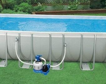 "Intex 24'x12'x52"" Ultra Frame Rectangular Above Ground Swimming Pool Set"