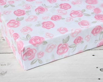 floral crib bedding, floral crib sheet, princess crib sheets, fitted crib sheet, crib sheet girl, baby shower gift