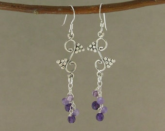 SALE! Protection earrings with Amethyst (242)